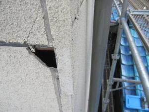 外壁ボード亀裂