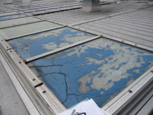 トップライト 硝子修理
