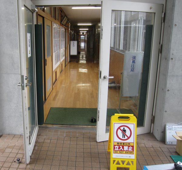 大型ドア用特注ドアクローザー「GRADE1」交換工事中
