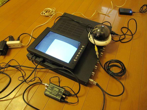 設定「日本防犯システム」ドーム型監視カメラ・デジタルレコーダー・マルチ電源・モニター
