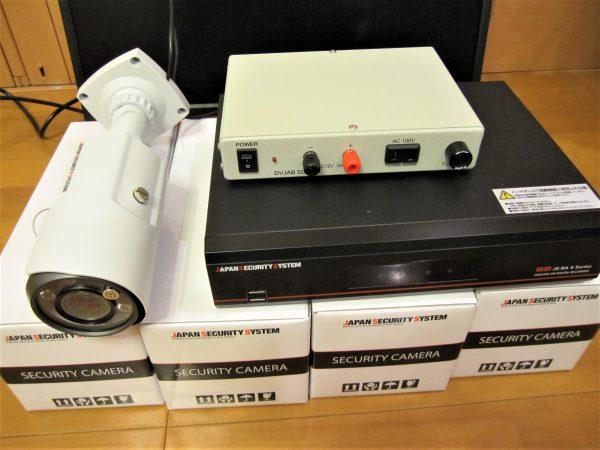 日本防犯システムの監視カメラ・デジタルレコーダー・マルチ電源・モニター