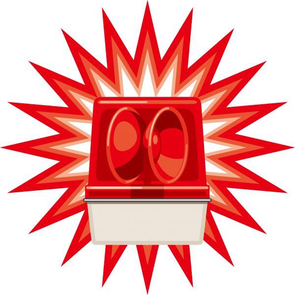 パトライト・赤色回転灯