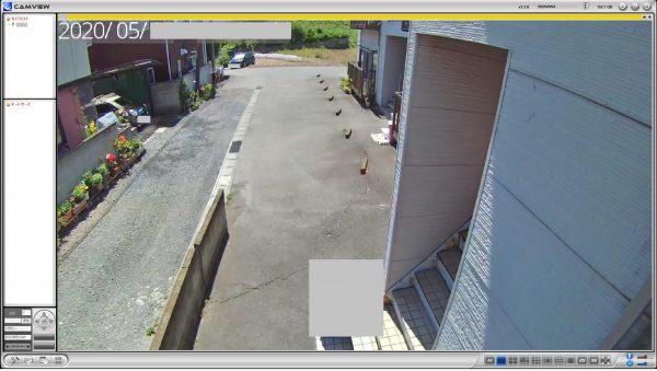 4G・LTE通信内蔵ネットワークカメラ「IPC-16LTE」無料アプリよりライブ監視画像