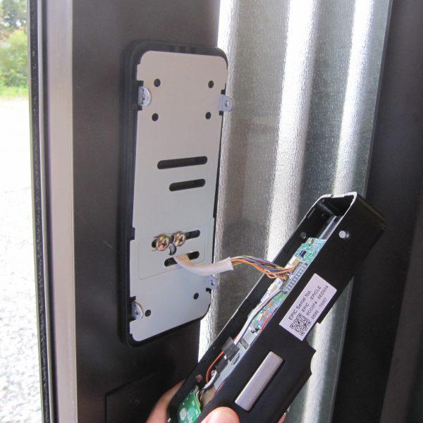 遠隔地レンタルスペース後付け電子錠・EPIC電子錠「ES-F500」室内機設置
