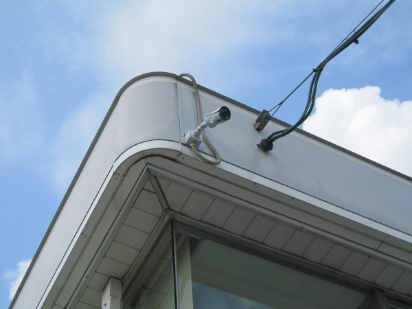 「日本防犯システム」高画質監視カメラ:JS-CA1020 アルファセキュリティによる設置完了後