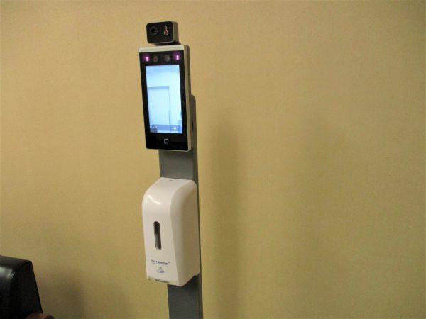 非接触アルコール噴霧器&タブレット型サーマルカメラ:保健所新型コロナ対策デモ機実演