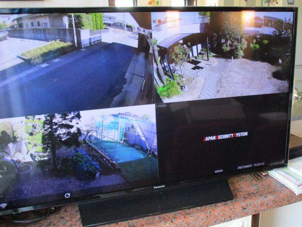 邸宅・ガレージの防犯対策:防犯カメラ&デジタルレコーダーシステムの既存モニターでの最終設定