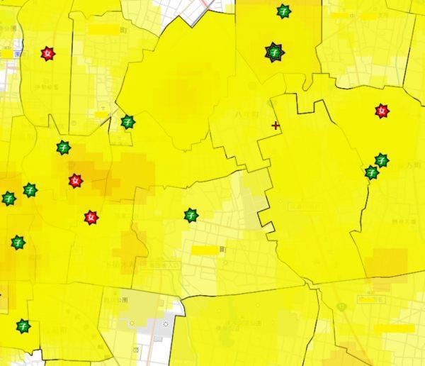 邸宅・ガレージの防犯対策:付近の犯罪発生マップ