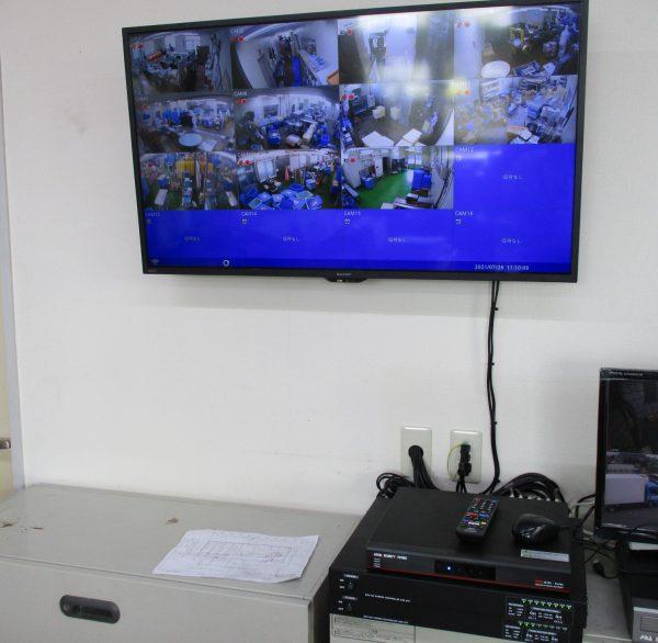 食品工場「食の安全」「生産管理」監視カメラシステム設定設置完了
